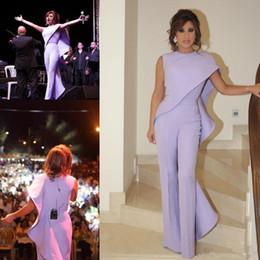 2019 plus größenspitzeoverall 2019 arabisch Lavendel Overall Frauen Arabisch Prom Abendkleider Jewel Neck Plus Size Formale Partei Tragen Günstige Mantel Rüschen Promi Kleider günstig plus größenspitzeoverall