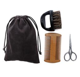 Canada Kit de soin de ciseaux de peigne de brosse de peigne de vente chaude d'hommes emballant le sac en plein air de voyage portatif de haute qualité 3pcs / ensemble Offre