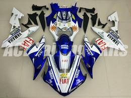 2019 ninja 636 parti 3 regali di alta qualità Nuova carrozzeria moto ABS adatta per YAMAHA YZF-R1 2004 2005 2006 R1 04 05 06 Kit carena YZF1000 personalizzato blu bianco 46