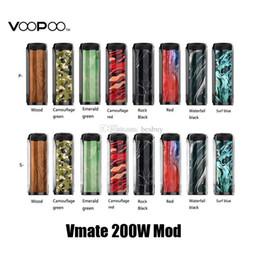100% d'origine Voopoo Vmate 200 W Mod Box Box Dual 18650 Batterie E Cigarette Vape Mods Pour Authenticl Uforce T1 Atomizer Tank ? partir de fabricateur