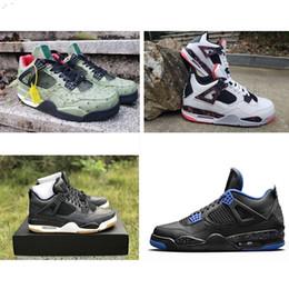 6c2f8129f571 Mens 4AJ jumpman basketball shoes 4s black Denim Laser White Cement Pale  Citron Oreo Tattoo air flight retro j4 kids boys sneakers boots