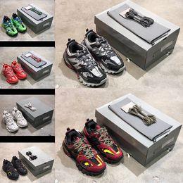 голубые мужчины Скидка Новое специальное предложение Track Paris Triple S 3.0 серо-оранжево-желтые повседневная обувь на плоской подошве повседневная обувь Tess S. Gomma Trek мужская и женская обувь размера