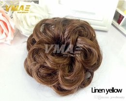 Natürliches Haarteil Chignon Kunsthaar Donut Roller Schnelles Brötchen Hitzebeständiges Haarteil Haarteil Mädchen Wellenförmiges lockiges Haar DHL geben Verschiffen frei von Fabrikanten
