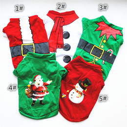 santa sweater Coupons - 2019 Christmas Pet Dog Clothes Santa Claus Sweater Autumn Winter Trendy Hoodie Coat Puppy Cat Teddy Pet Supplies Accessories Apparel A101102