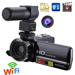 2019 verstecke kamerataschen 1080P Full HD Camcorder Fernbedienung Infrarot-Nachtsichtkamera 24MP 16X Digitalzoom-Videokamera mit Touchscreen-Mikrofon