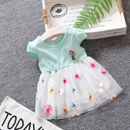 fc98a0fe5 embroidered baby dresses Canada - good quality summer baby girls dress girls  party lace tulle flower