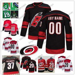 women s hockey jerseys 2019 - Custom Carolina Hurricanes Black Third Jersey  Any Number Name men women d029207ab8