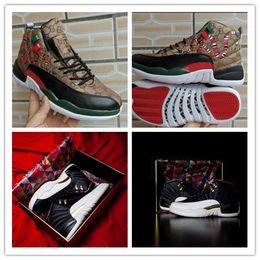 2018 Mejor Nuevo Jumpman XII 12 CNY Zapatos de baloncesto de calidad estupenda Venta caliente para hombre Color de moda 12s Deportes Jogging zapatillas de deporte tamaño 40-47 desde fabricantes