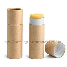 Bálsamo labial eco on-line-50 pcs 0.3 oz 0.5 oz 1 oz eco-friendly kraft batom tubo vazio lip balm container preto papel branco sólidos tubos de perfume push up