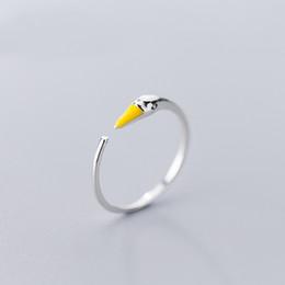 emaille sterling schmuck Rabatt MloveAcc Heißer Verkauf 925 Sterling Silber Mode Swan Emaille Offenen Finger Ring für Frauen Hochzeit Engagement Silberschmuck