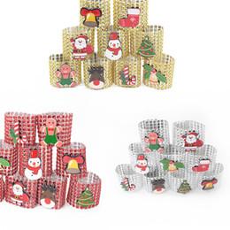 hotel weihnachtsschmuck lieferungen Rabatt Kunststoff-Strass-Verpackungs-Ring Weihnachten Serviettenring Stuhl Buckle Hotel Hochzeit Party Supplies Heim Dinner Tischdekoration Supplies 3color
