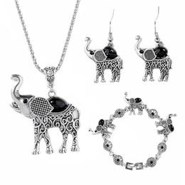Argentina Conjunto de joyas de elefante para mujeres Retro Conjunto de joyas de Bohemia Los pequeños aretes de collar de aleación Conjuntos de joyas de animales cheap necklaces sets for women Suministro