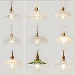 lámparas colgantes de cristal vintage Rebajas AC 220 V Lustre Clásico Vintage Chandelier Light Cafe Colgante de Cristal Creativo Lámpara de Bar Tienda de Ropa Accesorios Colgante Colgante Luces