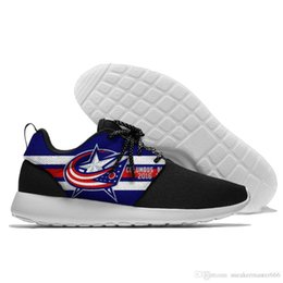 Argentina Factory Outlet Custom Hombre mujer Zapatillas de fútbol baratas Columbus Blue Jackets Hockey Running Shoes. cheap running shoes cheap factory Suministro