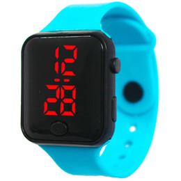 relojes deportivos de silicona para niños. Rebajas Relojes inteligentes Relojes electrónicos LED digitales para niños Reloj de pulsera electrónico de silicona Niños Niños Chicas Deportes 12 colores