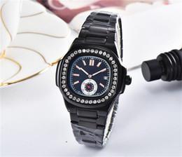 Звон часов онлайн-2019 новых женщин дрель кольцо циферблат из нержавеющей стали кварцевые часы повседневная мода горный хрусталь алмаз инкрустация часы циферблат кварцевые часы