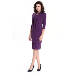 ca5ebf3a25e Solid Ladies Jacket Dress Suits Plus Size OL Dress Elegant Sheath Bodycon  Dress Sets Women Two Pieces Sets