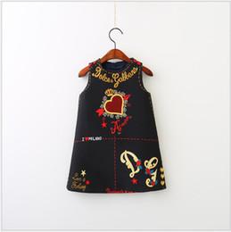 Zitronendrucke online-Neue heiße verkauf mädchen prinzessin kleid nettes mädchen elegante floral bedruckte kleider kinder ärmellose weste rock mädchen kleidung 90-140cm einzelhandel