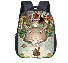Totoro saco infantil on-line-12 Bags Inch Tonari no Totoro Meu Vizinho Totoro mochilas mochilas Meninas Meninos Crianças Escola Jardim de Infância Criança Backpack