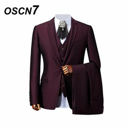 414c19354069 OSCN7 Viola Tailor Suits Men 3piece Wedding Gentleman Custom Made Suit Uomo  avanzato vestito da uomo di personalizzazione