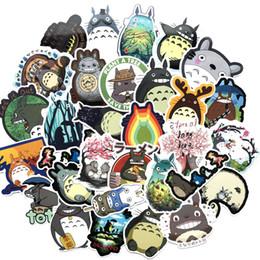 Japanische notizbücher online-64 Teile / los Japanischen Film Mein Nachbar Totoro Nette Briefpapier Aufkleber Für Auto Laptop Notebook Gepäck Aufkleber Kühlschrank Skateboard