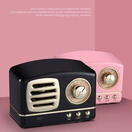 alto-falante sem fio portátil tf Desconto Clássico Retro Vintage Sem Fio Bluetooth Speakers Inovador Rádio Portátil Mini Speaker Estéreo Graves Profundos FM U disco TF Handsfree 10 pcs
