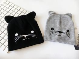 Motif bonnet en coton en Ligne-2018 coton motif de chat épaissie bonnet d'hiver chaud chapeau Skullies bonnet Bonnet pour hommes et femmes 34