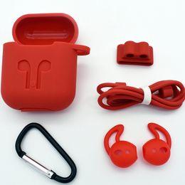 auricolari per iphone .5s plus Sconti Custodia in silicone per Apple Airpods 5 in 1 Custodia protettiva antiurto per custodia Airpods