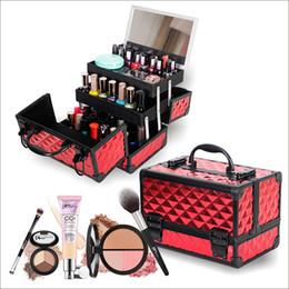 Красота ногтей поле онлайн-New  Makeup Box Artist Professional Beauty Cosmetic Cases Makeup Bag Tattoo Nail Multilayer Toolbox Storage Bag
