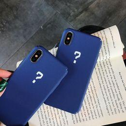 2019 semplici scrub Semplice telefono punto interrogativo casi PC ecocompatibile per Iphone Xs Max Scrub Cassa dura cellulare per Iphone 6 7 8 Plus semplici scrub economici