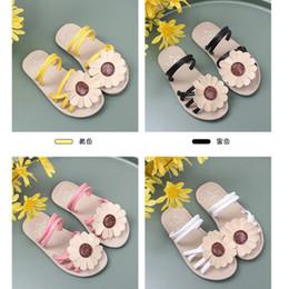 Sandalo delle bambine online-Little Girl sandali e ciabatte Flowers Beach Shoes