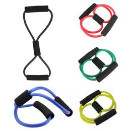 Treino de tubo elástico on-line-Bandas de treinamento de resistência tubo Workout Exercício para Yoga 8 Tipo Body Building Fitness Equipamentos Ferramenta Elástica Corda Puxar