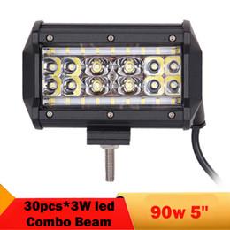 5 pulgadas LED Bar Combo haz Offroad LED luz de trabajo SUV ATV 4x4 4WD Camión Faro principal Conducción Lámpara antiniebla Coche LED Luces de respaldo desde fabricantes