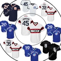 camiseta cabrera Rebajas 45 Michael 72 Carlton Fisk 29 Joe Carter 20 Josh Donaldson 24 Miguel Cabrera White Sox Jersey de Blue Jays Retro camisetas al por mayor