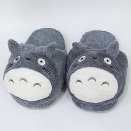 Pantofole bassi prezzi online-pantofole di totoro al minuto di promozione al minuto di promozione calda grigia La mia totoro di figure di totoro pantofola del peluche del fumetto totoro da 11 pollici