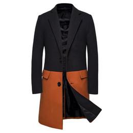 Hommes vêtements d'hiver simples en Ligne-En gros Mens Designer Vêtements Trenchs Manteaux 2019 Hiver Mode Symétrique À Panneaux Simple Breasted Windbreaker Manteaux Vestes Hommes Manteaux