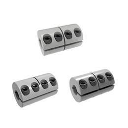 D32mm L40mm liga de alumínio acoplamento de parafuso diafragmas acoplador fixo Dropshipping 10/12 / 14 milímetros de Fornecedores de acoplamentos elásticos