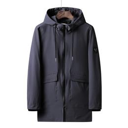 uomini di cappotto di trincea arancione Sconti 2019 Marca Primavera Moda uomo lungo nero Trench giacca cappotto uomo Outwear giacca a vento trench giacca maschile più dimensioni