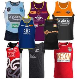 Chalecos singletes online-2019 Cowboys Wests Tigers Brisbane Broncos Maroons chaleco Jersey de rugby de Nueva Zelanda Camisetas de camiseta Liga Nacional Camisetas de chaleco