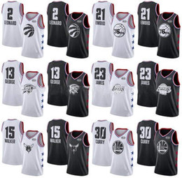 Argentina Venta al por mayor 2019 New Mens Sports T-Shirts Jerseys Boys 23 # 30 # etc Bordado All-star Trajes de baloncesto Hombre Ropa deportiva Tamaño S-xxL cheap basketball jersey star Suministro