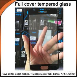 écran mobile zte Promotion Protecteur d'écran en verre trempé à couverture totale avec bord incurvé 2.5D avec emballage 10 en 1 pour tous les mobiles Boost, MetroPCS, T Mobile, Cricket