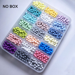 Süßigkeiten Perlen 100 stück Silikon Baby Kinderkrankheiten Beißring Perlen 10-20mm Sichere Lebensmittelqualität Pflege Kauen Runde Silikon Perlen Halskette von Fabrikanten