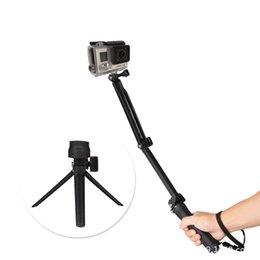 Canada Support pour trépied à bras articulé multifonctions 3 voies pour GoPro Hero 5 4 SJ4000 Caméra XiaoYi Monopod Go Pro Accessoires Offre