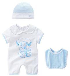 Bambole della bambola della ragazza online-Baby Pagliaccetti Suit Summer Baby Boys Vestiti Cartoon Neonati Vestiti con maniche corte Bambola Colletto Infantile Tute Ragazza Abbigliamento Set