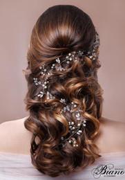 Coiffure de mariée vintage 100 CM femme perles perles doré / blanc Accessoires de cheveux Cadeaux de fête de mariage Nouveau ? partir de fabricateur