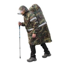 M.J.D. Venta caliente al aire libre impermeable cubierta de la mochila de una sola pieza del poncho de lluvia capa del cabo al aire libre Senderismo Camping Unisex Rain Gear # 179457 desde fabricantes