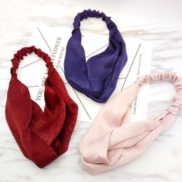 Corée du Sud a importé des accessoires pour cheveux - Version coréenne du tissu à la mode sauvage de bandeaux en soie, fil de glace ? partir de fabricateur