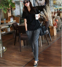 Pantalons de femme nouveau mode en Ligne-Pantalon à la mode pour fille nouveau pantalon Haren neuf modal dame mince taille yoga taille petit pantalon ouc231