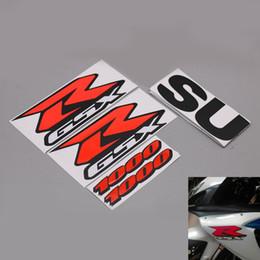 2019 corredo gsxr in metallo rosso Kit adesivi carenatura moto GSX-R 3D rosso per GSXR1000 Accessorio adesivi moto GSXR 1000 corredo gsxr in metallo rosso economici