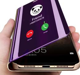 Deutschland Klare sicht smartphone case für xiaomi mi 9 mi 8 lite se 6 a2 a1 spiegel leder flip für redmi note 7 6 pro 5 plus 6a 4 4x abdeckung Versorgung